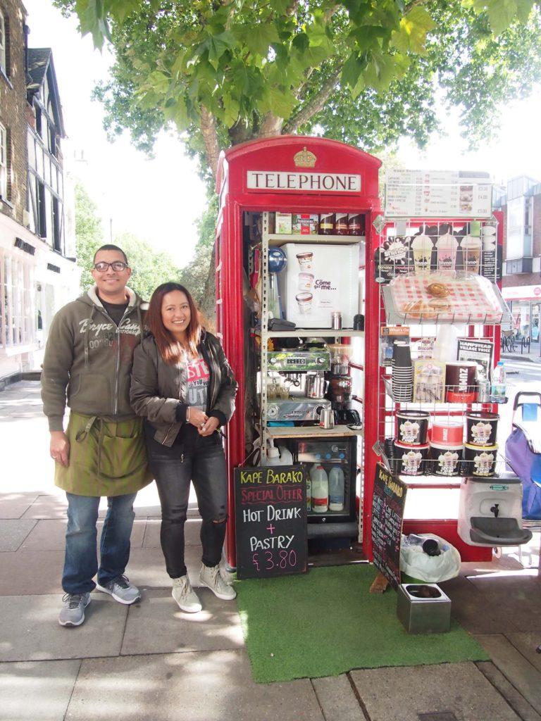 【イギリス】ロンドン名物、赤い公衆電話ボックスでおいしいコーヒーはいかが!?